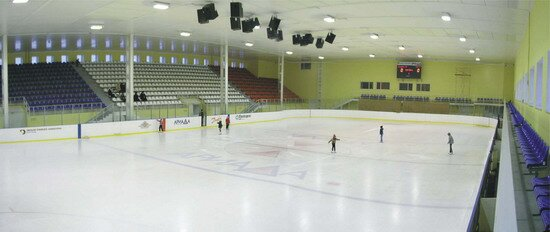 Общий вид ледовой арены ГЛК Ариада